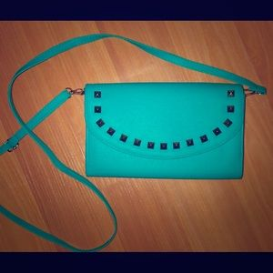 NWOT! Turquoise Crossbody Or Clutch Purse!